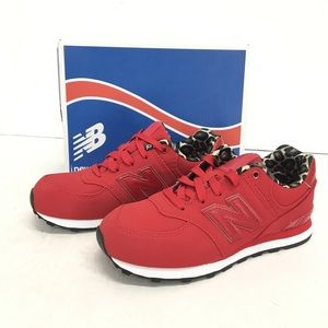 New Balance Kids Red Athletic Shoes